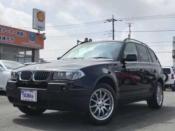 BMW X3 2.5i 4WD 本革シート サンルーフ ETC 18インチAW