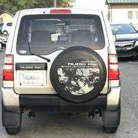 パジェロミニ 660VR 4WD 背面タイヤ ポタブルナビのサムネイル